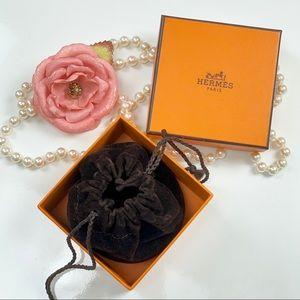 Authentic hermesempty box& velvet pouch